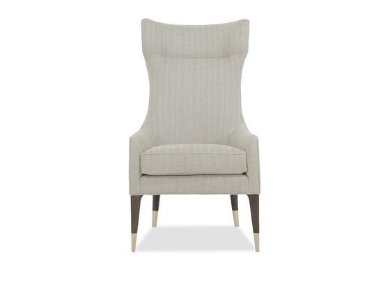 "Modern 27"" Tall Wing Chair in Beige"