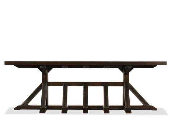 Pedestal Base Casual Console Table in Dark Walnut