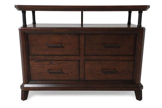 "30"" Solid Oak Four-Drawer Console Table in Artisan Oak"