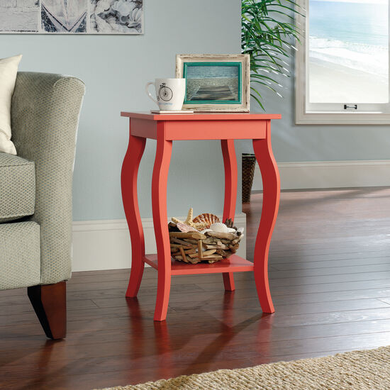 Curved-Leg Contemporary Side Tablein Desert Coral