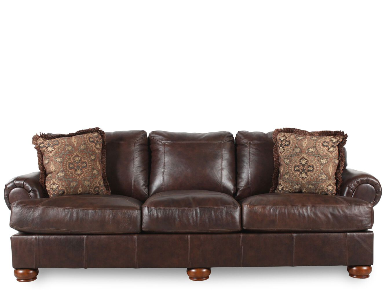 Traditional 100 Quot Sofa In Dark Walnut Mathis Brothers