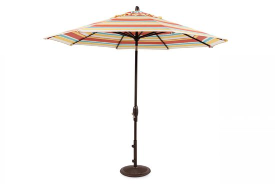 Casual Striped Auto Tilt Umbrella