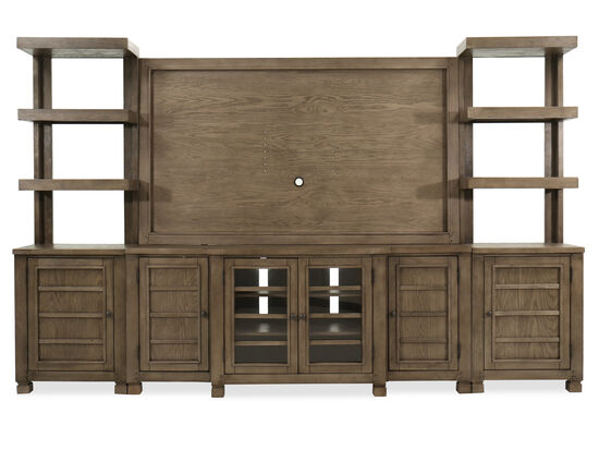 Traditional Console Wall Unit in Bark