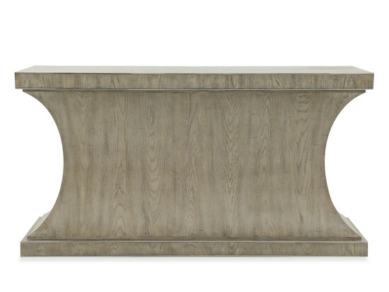 Sawn Distressed Contemporary Console Table in Gray