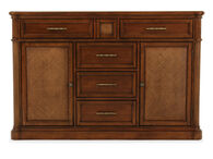 "Raffia-Textured 60"" Sideboard in Brown"
