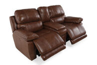 "Power Reclining Contemporary 66"" Loveseat in Deep Brown"