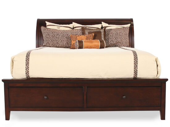 Winners Only Vintage Cherry Full Sleigh Storage Bed