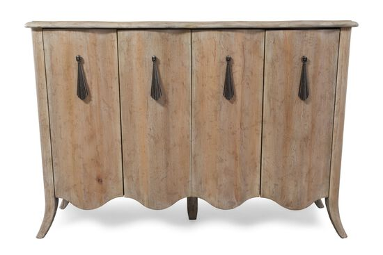 36'' Scalloped Apron Traditional Credenza in Brown