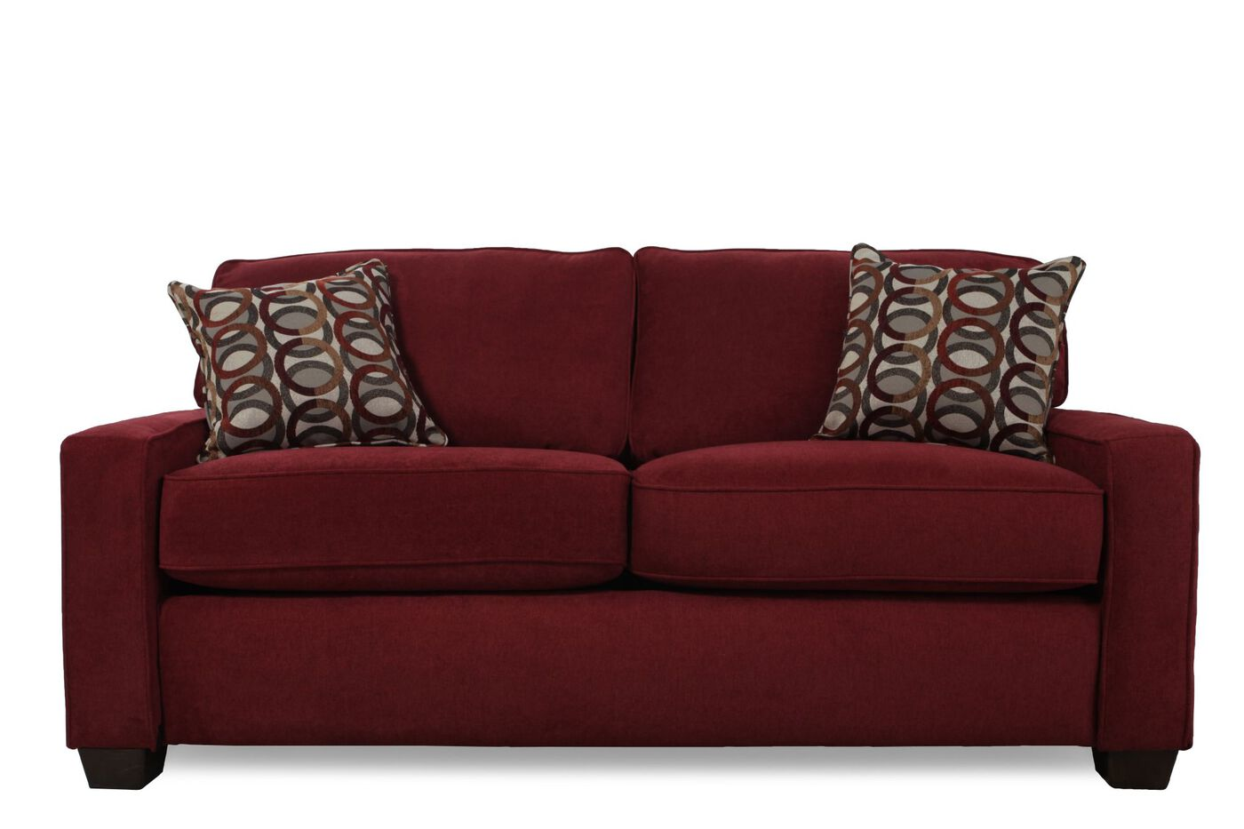 I Rest Casual 82 Quot Sleeper Loveseat In Red Mathis