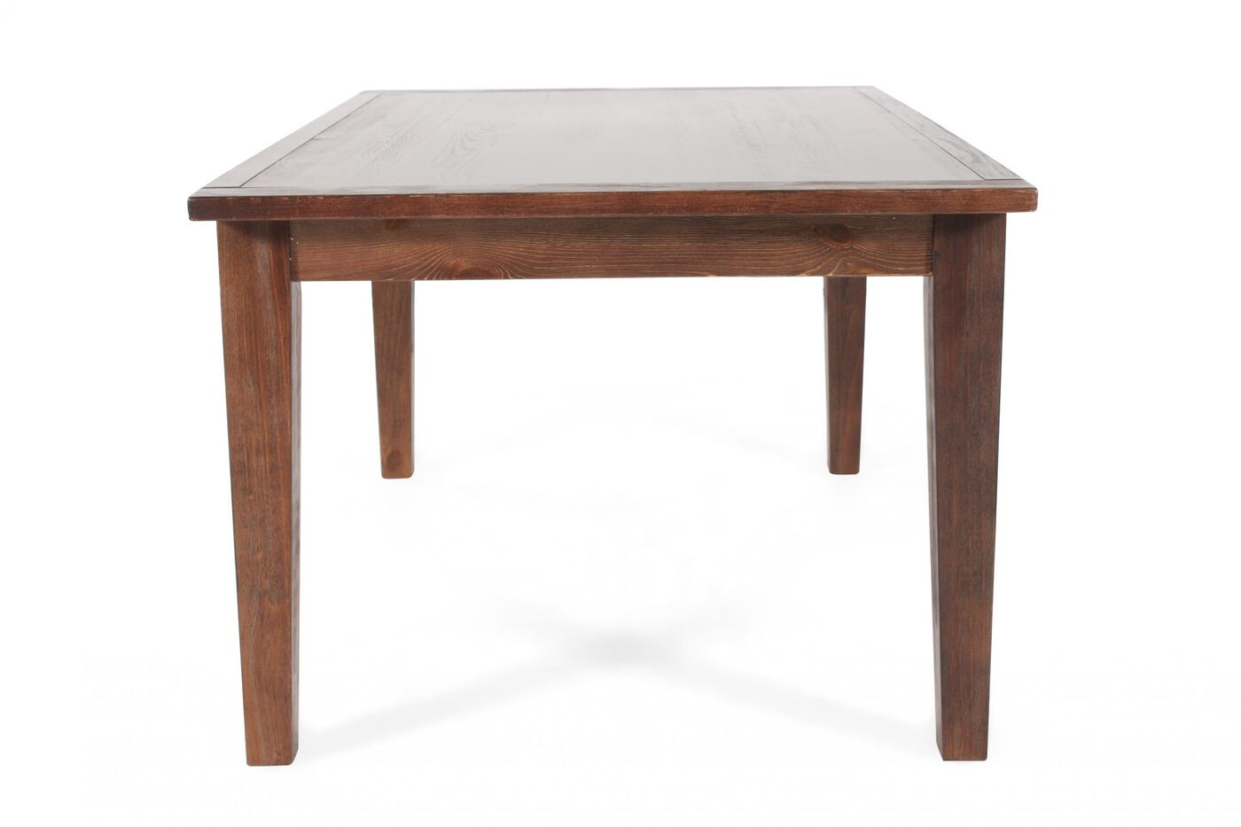 Casual 68 plank top dining table in natural brown for Informal dining table