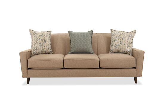 "Modern 85.5"" Sofa in Brown"