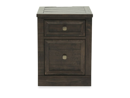 Two-Drawer Traditional File Cabinet in Brown