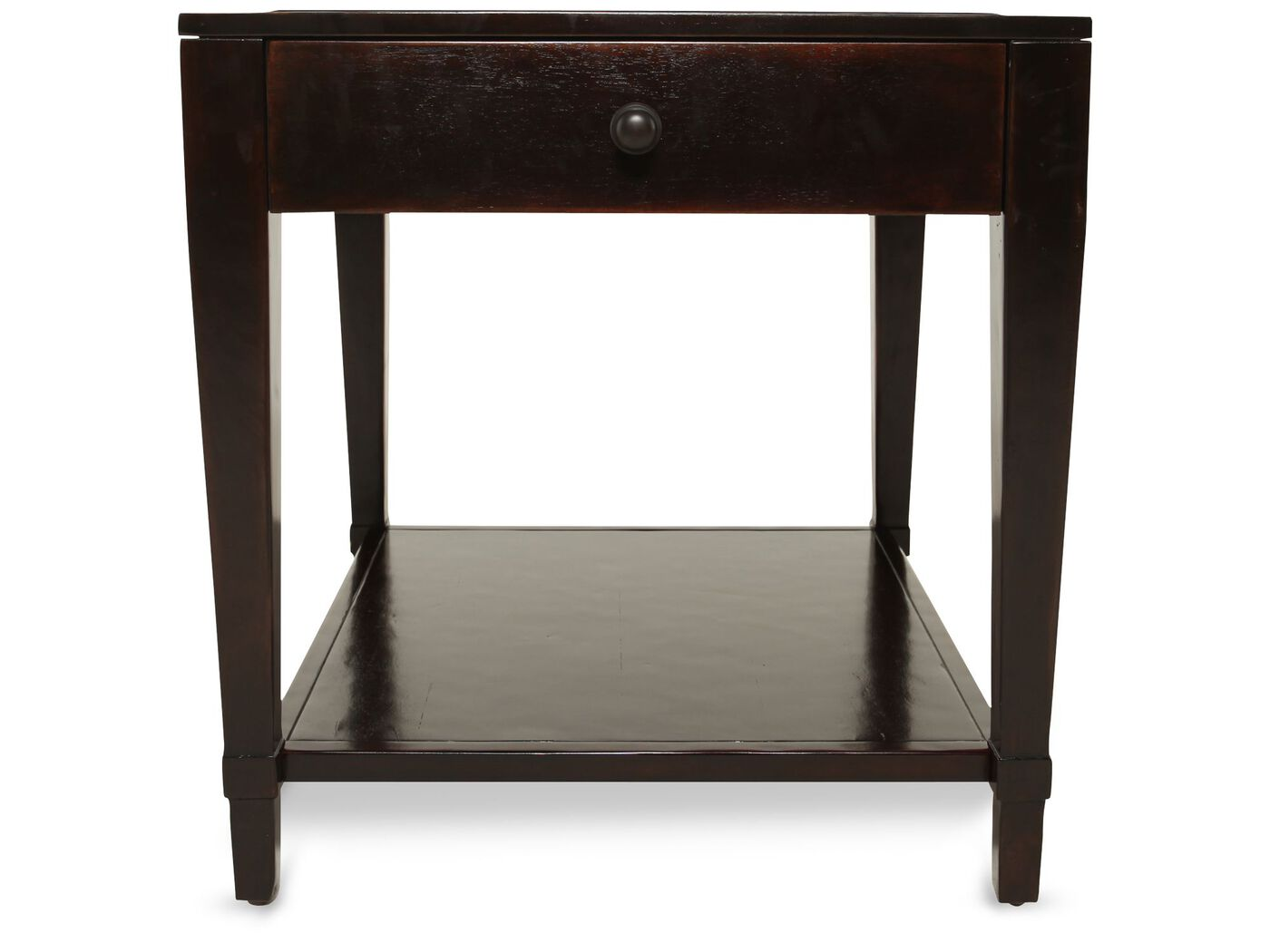 Square Traditional End Table In Waxed Molasses Mathis