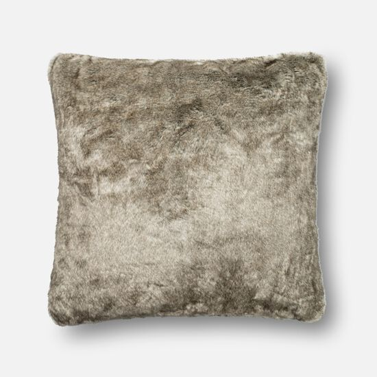 """Contemporary 22""""x22"""" Cover w/Poly Pillow in Grey"""