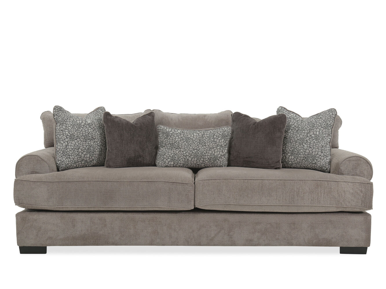 Low profile 96 sofa in gray mathis brothers furniture for Furniture 96