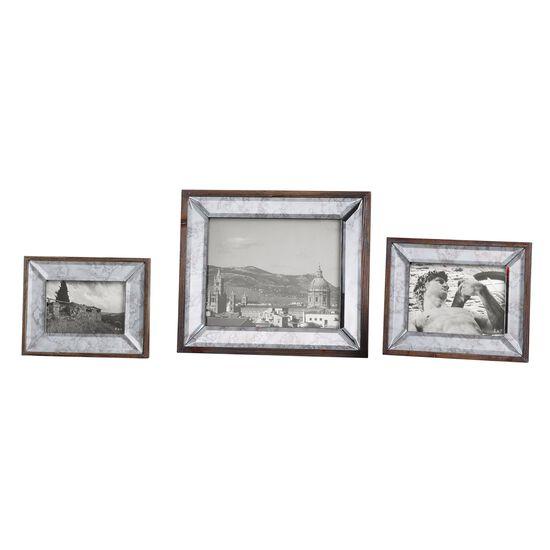 Three-Piece Antique Mirror Photo Frames