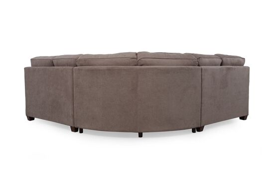 Three Piece Casual Sectional In Tawny Mathis Brothers