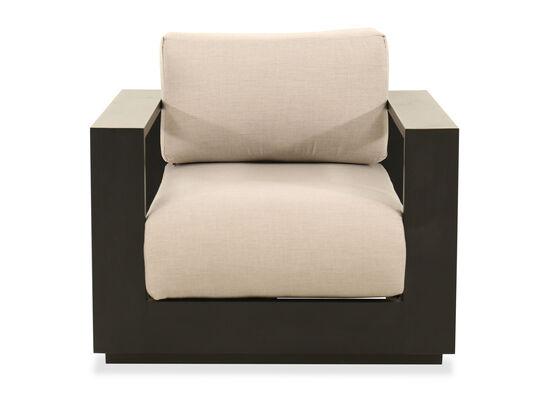 Modern Aluminum Chair in Black