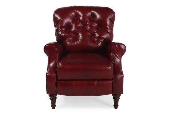 "Button-Tufted Contemporary 33"" Recliner in Chianti"