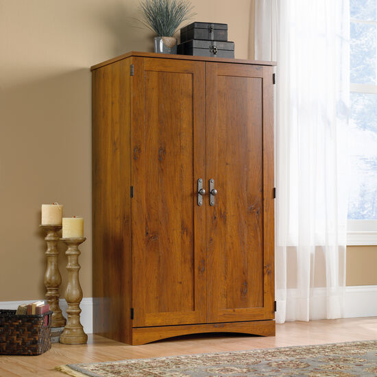 "54"" Transitional Computer Armoire in Abbey Oak"
