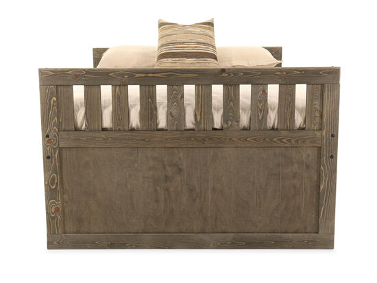 Contemporary Youth Full Captain Bed in Brown