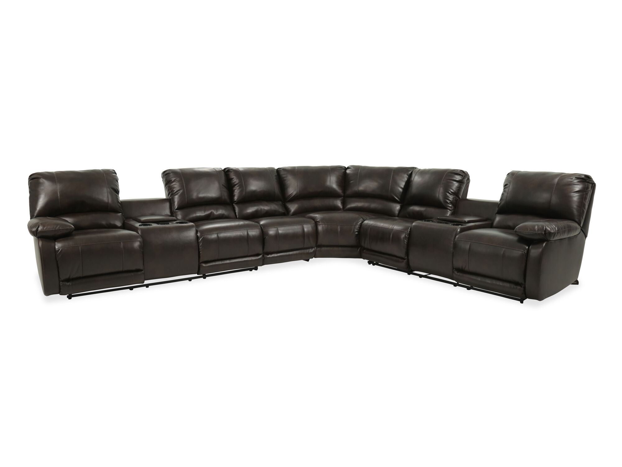 Four Piece Microfiber Sectional In Brown