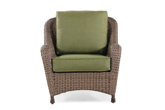 Contemporary Wicker Club Chair in Olive