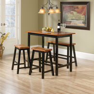 MB Home Lake Wood Estate Black 4-Piece Counter Height Dinette Set