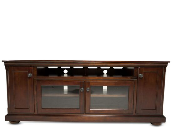 Fully Framed Traditional TV Stand in Dark Brown