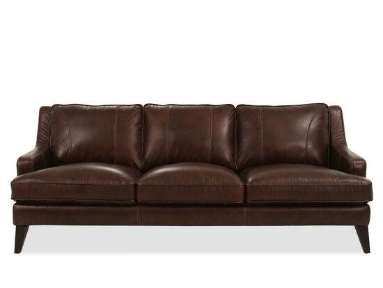 Casual Leather Sofa in Brown