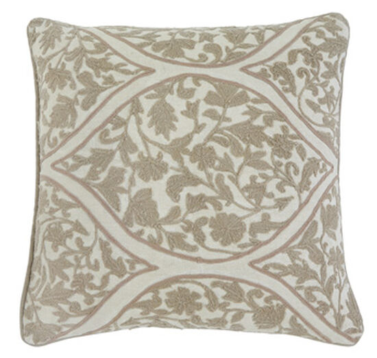 FloralPatterned 40 Square Pillow Cover In Beige Mathis Brothers Beauteous 22 Square Pillow Covers