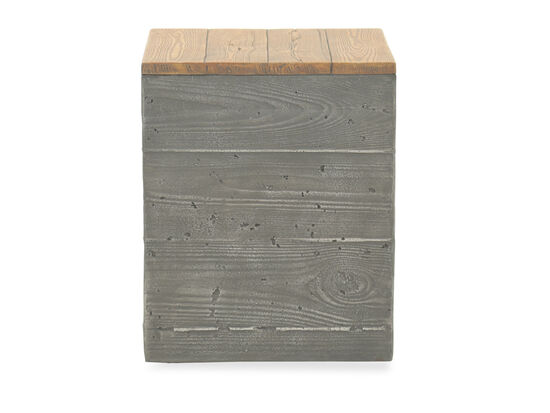 Contemporary Planked Tank Storage Boxin Gray