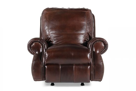 USA Leather Oak Paisley Recliner