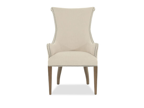 Wingback 42'' Host Dining Chair in Cream