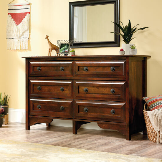 "35"" Contemporary Paneled Six-Drawer Dresser in Curado Cherry"