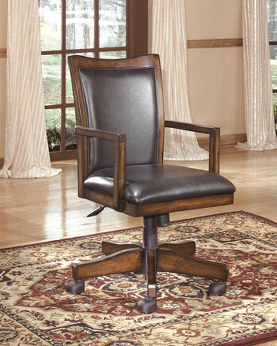 Swivel Desk Chair in Medium Brown Oak