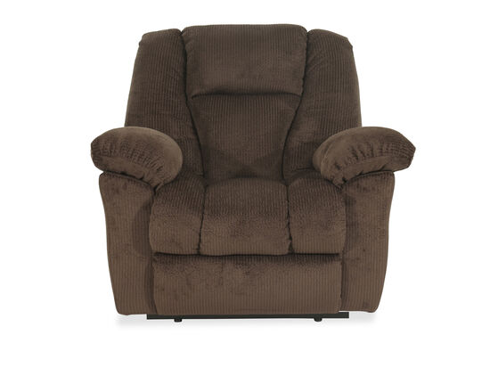 "Oversized Contemporary 47"" Wall Recliner in Brown"