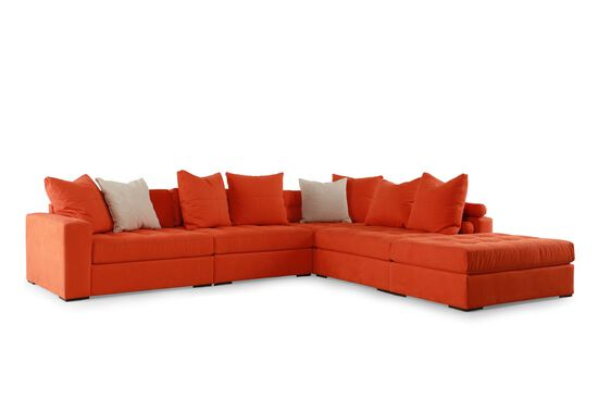 Jonathan Louis Noah Orange Sectional