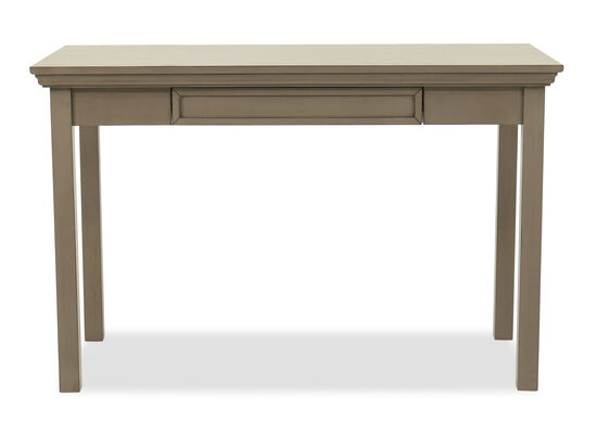 One-Drawer Casual Youth Writing Desk in Khaki Gray