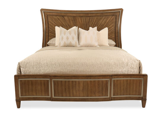 Traditional King Panel Bed in Brown