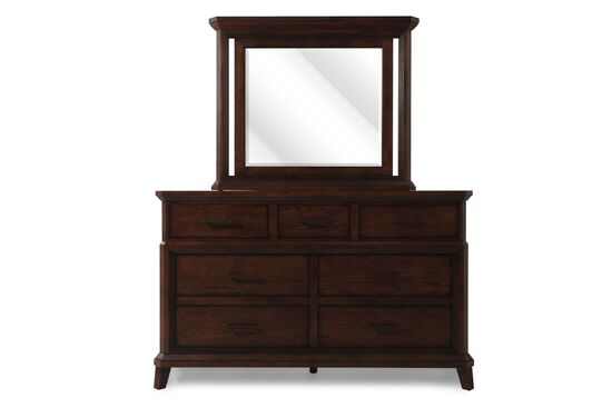 Two-Piece Mission Dresser and Mirror in Artisan Oak