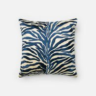 "Loloi Contemporary 18""x18"" Cover w/poly pillow in Blue"
