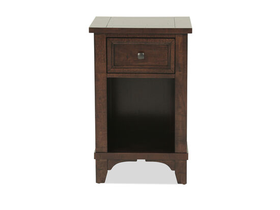Traditional One-Drawer Youth Nightstand in Dark Brown