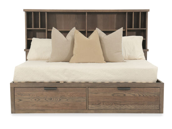 Youth Bookcase Lounge Bed in Brown