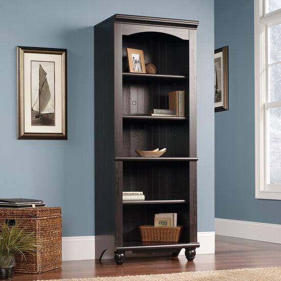 Transitional Adjustable Shelf Open Library in Dark Brown