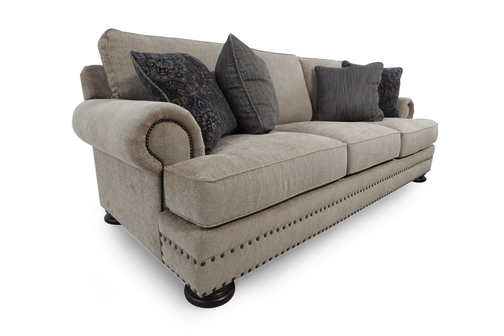Bernhardt Foster Brown Sofa