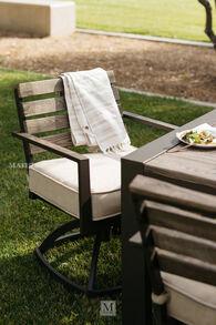 Ashley Peachstone Dark Brown Swivel Chair