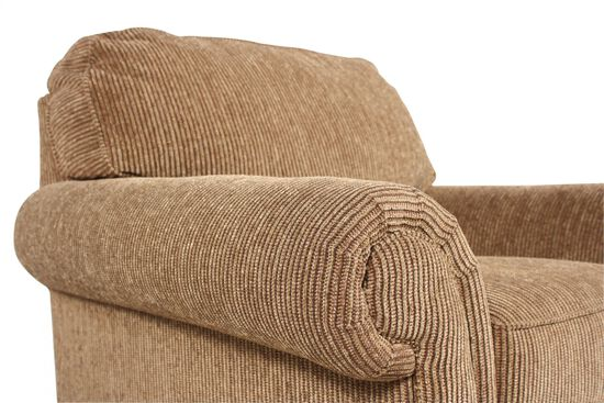 """Textured Traditional 44"""" Chair in Nut-Brown"""