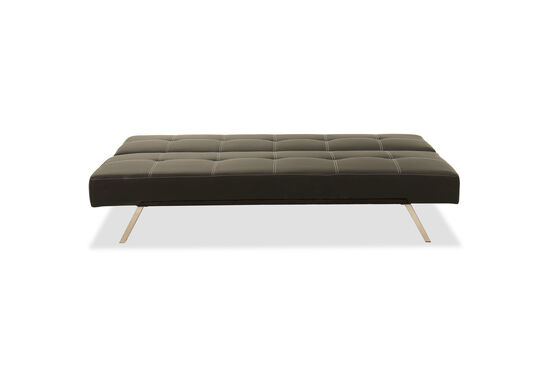 """Tufted 70.5"""" Convertible Sofa in Black"""