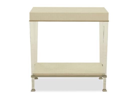 Open-Shelf Casual End Tablein Beige